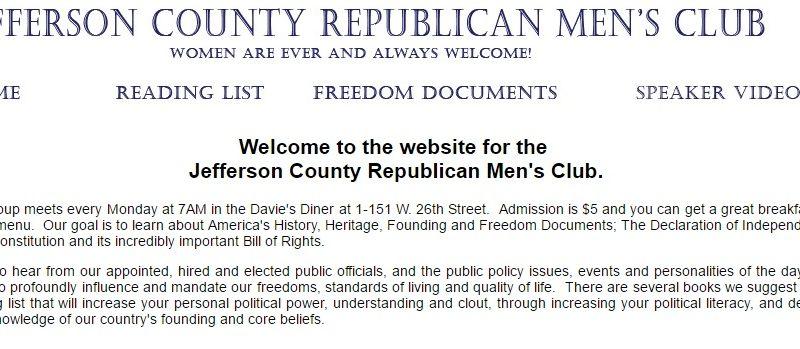 Jefferson County Rep. Men Club_2016